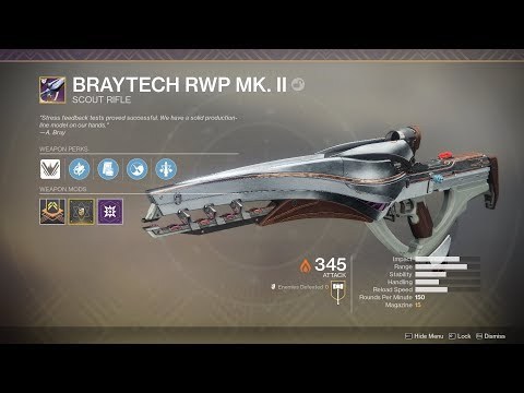 Destiny 2 - Nascent Dawn 3/5 Full Quest Chain (Masterwork Braytech RWP Mk. II Reward)