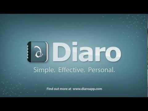 Video of Diaro - diary, journal, notes