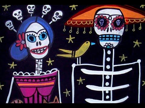 Day of The Dead Art by Artist Heather Galler Mexican Folk Art