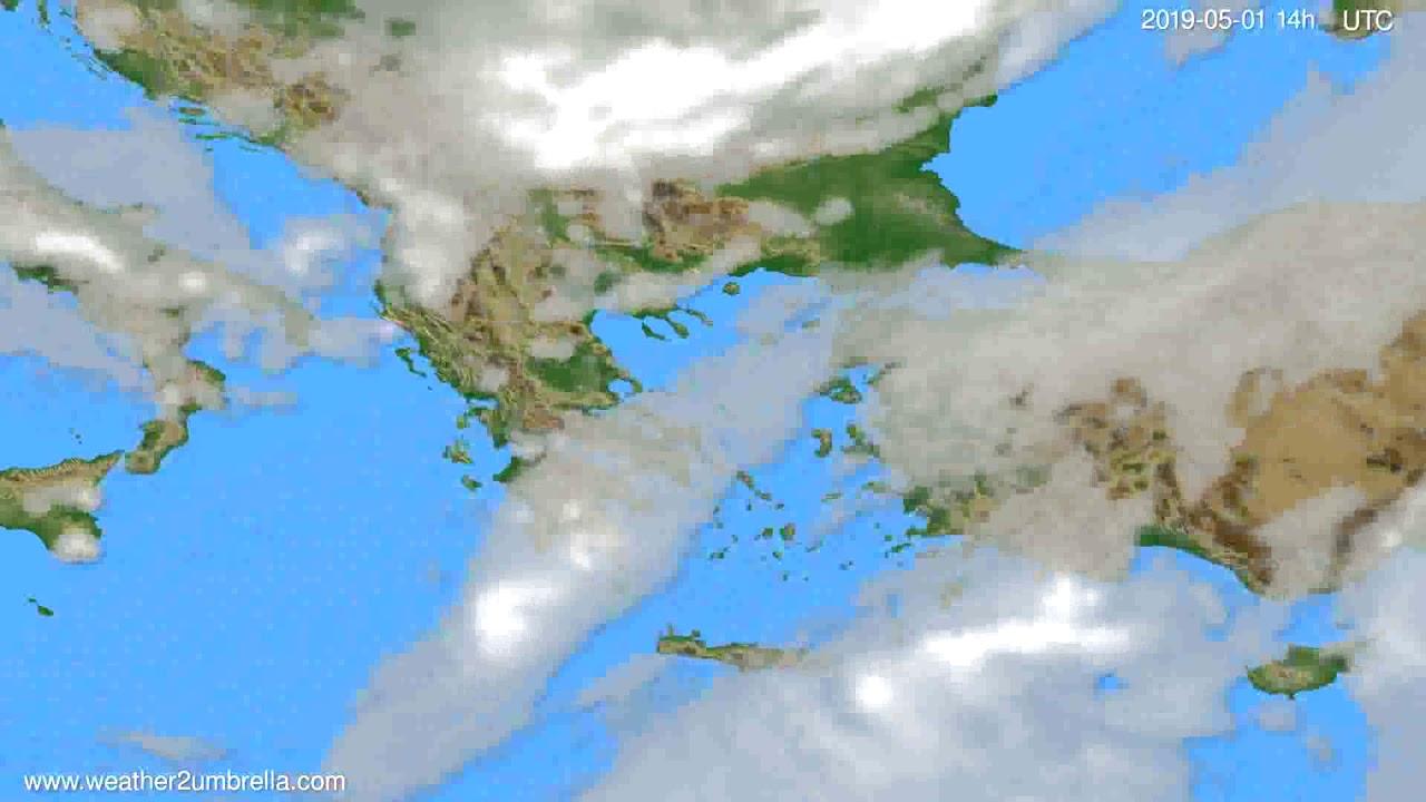 Cloud forecast Greece // modelrun: 12h UTC 2019-04-29