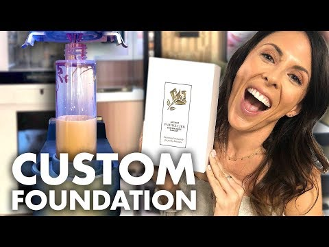 We Made Our Own Custom Foundation! (Beauty Trippin)
