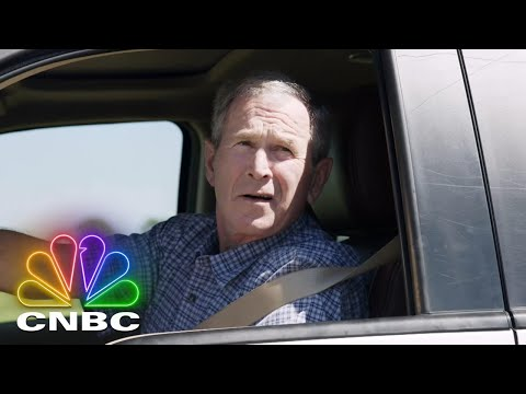 Former President George W. Bush Picks Jay Up In A 2013 Ford F150 King Ranch | Jay Leno's Garage
