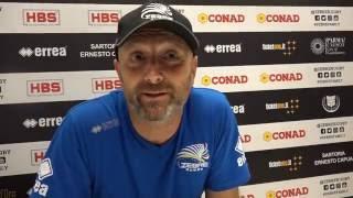 Coach Guidi nel post partita di Zebre-Cardiff