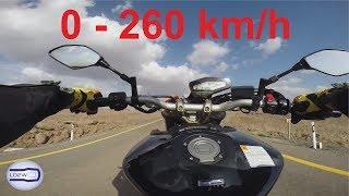 4. 2018 Yamaha MT 09 / Acceleration, Top Speed 0-260 km/h, Best Exhaust Sound