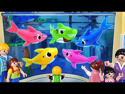 Baby Shark Family showed up at the Aquarium! Lets go to the Baby Shark Performance~! #PinkyPopTOY_Aquarium. Best of the week