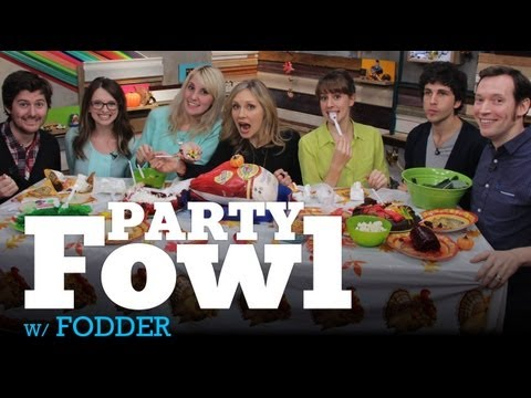 MyDamnChannel - The team behind FODDER, The Cooking Channel's (http://www.youtube.com/cookingchannel) sketch series, is joining the My Damn Channel fam for a Thanksgiving feast! We're joined by Geoff Lerer,...