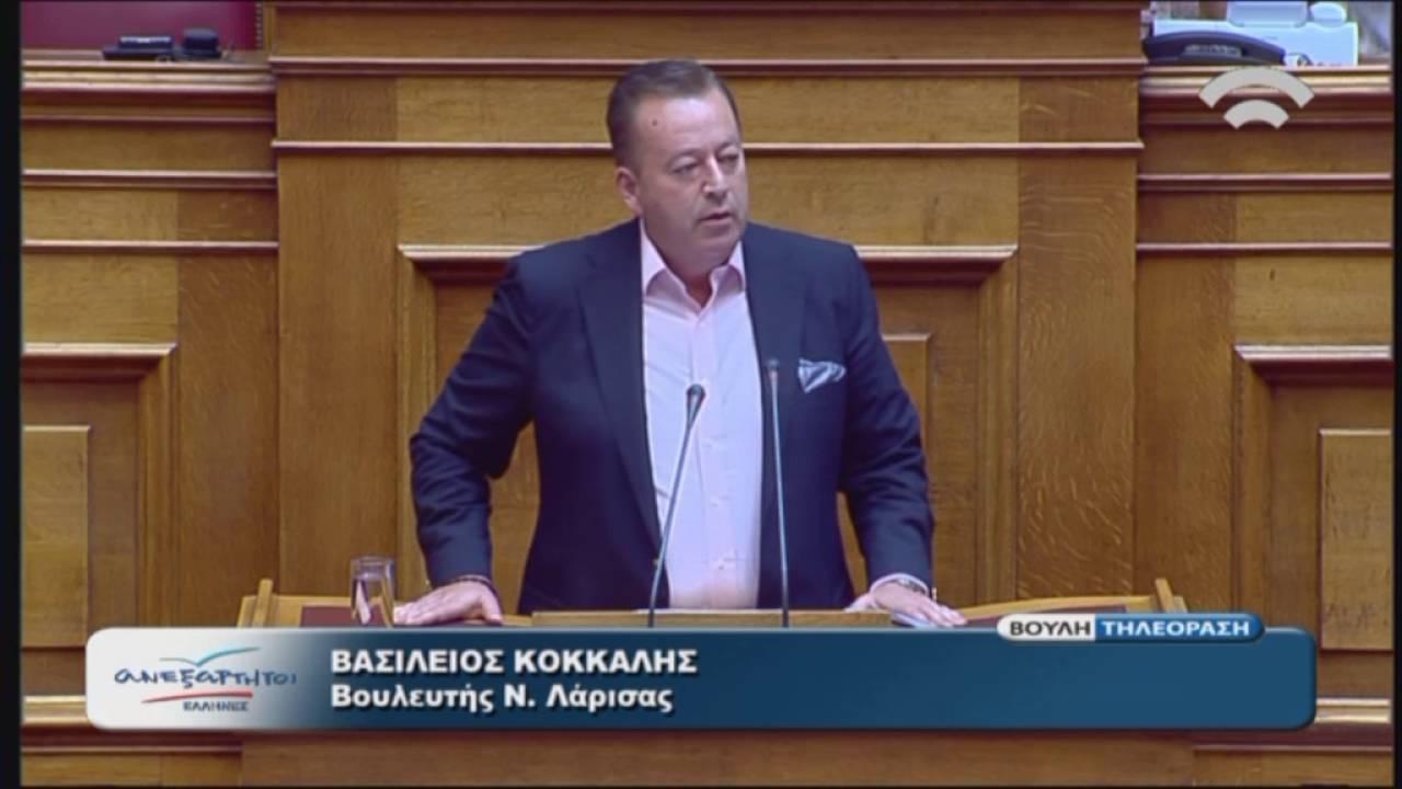 Β.Κόκκαλης (Ειδ.Αγ.ΑΝΕΛ)(Αναλογική εκπρ.των πολιτικών κομμάτων)(20/07/2016)