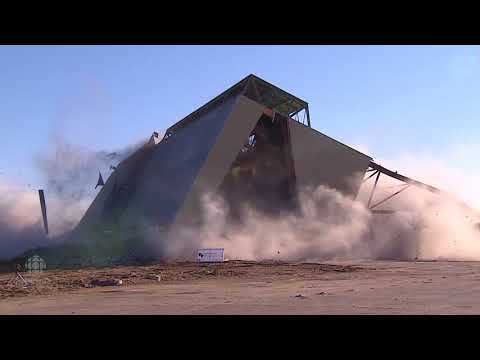 Demolition of Taylor Field's historic west grandstand