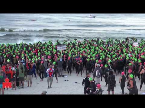 swim - Age Group Swim Start, 2013 Ironman Florida.
