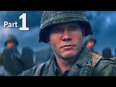 Call of Duty WW2 Walkthrough Gameplay Part #1 - Campaign Mission 1 + 2! (COD 2017) (видео)