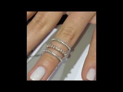 Lauren B Diamond Eternity Bands + Engraving