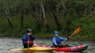 Some paddlers from the Lower Columbia Canoe Club head to the rainforests of the Nehalem River for a easy Class 2 paddle.