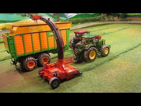 Siku RC Modellbau,Tractor,John -Deere Power,Forage Harvester,Case IH ,IHC,Joskin Silospace,Trailer