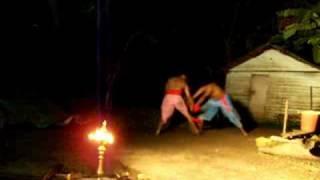 Kerala Martial Arts on Kerala backwater