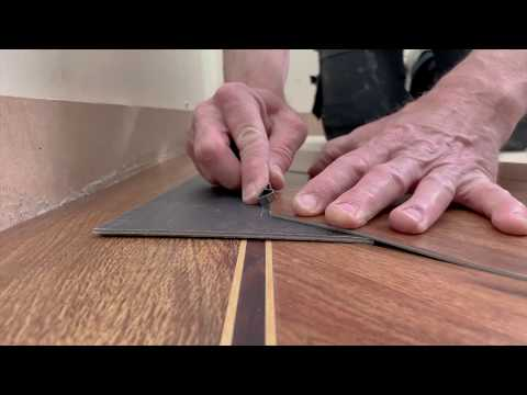 Karndean How To Series...Fitting a plank at a 45 degree angle to a border - Gluedown