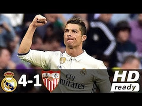 Real Madrid vs Sevilla 4 -1 - All Goals & Extended Highlights - La Liga (14/05/2017)