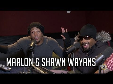 Shawn & Marlon Wayans Clown each other + talk Haunted house 2!
