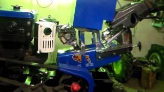 Полноприводный минитрактор переломка. Установка генератора на ZUBR JR-Q12E.