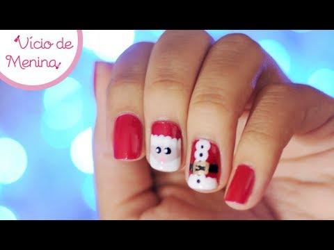 Nail Art Papai Noel - Santa Claus Nail Art
