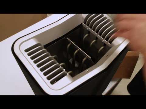 Installing rocks into a tylo heater