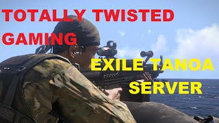 Hey there peeps. Totally Twisted Gaming now have their own Tanoa exile server. I will be recording on this server, so if you hop on you'll probs bump into me or kill me lol. Here is the server IP 185.38.149.149:2302 Mods you will need are Exile And RyanZombies. I hope you enjoy. Don't forget to hit that like and subscribe button.