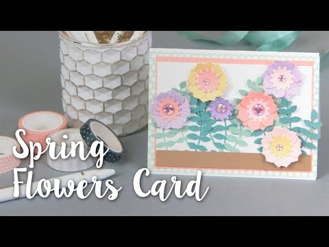 DIY Intricate Spring Flowers Card Tutorial in Minutes!