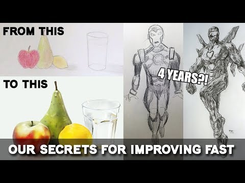 FASTEST WAY TO IMPROVE?! Art Alliance Redraws Old Art & Shares Secret Tips