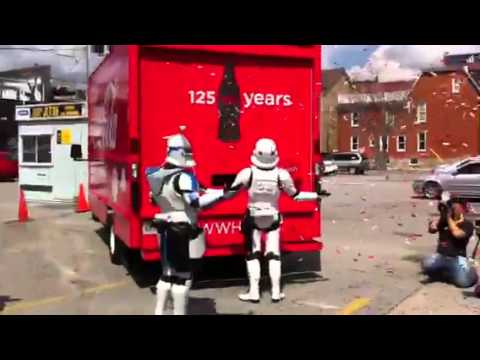 coke happiness truck - Stormtroopers enjoying the Coke Happiness truck in Toronto for 125th birthday!