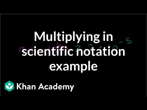 Multiplying in scientific notation example (video) | Khan Academy