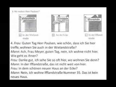 hören - A1 Start Deutsch 1 Hören Teil 1 - Beispiel.