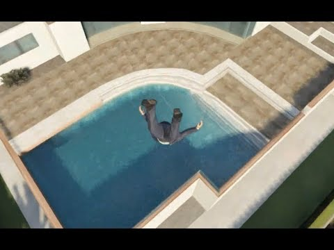 GTA 5 – SKYDIVING INTO POOLS! GTA 5 FUNNY MOMENTS