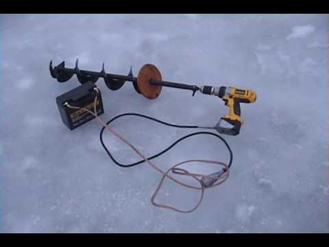 электробур для рыбалки из шуруповерта своими руками