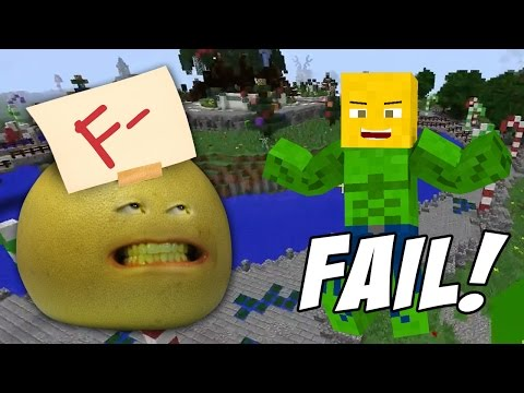 Grapefruit FAILS at Minecraft Skywars! – Let's Play Annoying Orange Minecraft Server