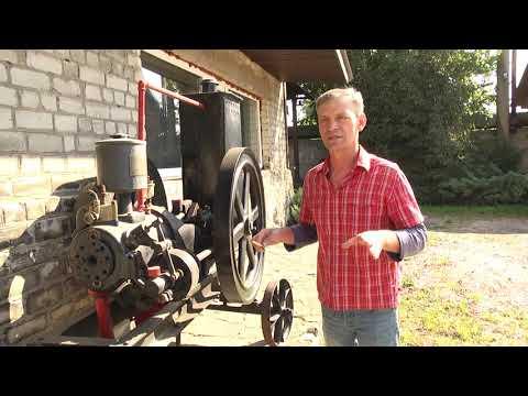Колекціонер старовини разом з його сином реставрували двигун внутрішнього згорання 1910 року виробництва