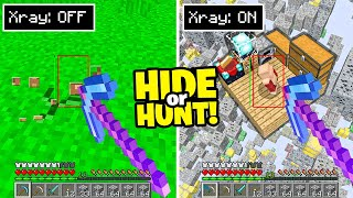 Minecraft Hide Or Hunt, but I CHEAT..