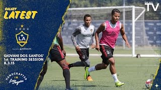 Giovani dos Santos trains with the team for the first time. Want to see more from the LA Galaxy? Subscribe to our channel at http://www.youtube.com/LAGalaxy.
