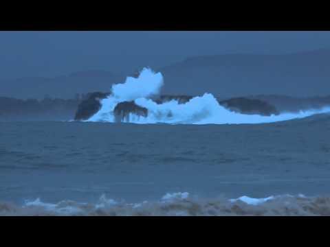 Isla de Mouro azotada por el temporal - Enero 2014 (видео)