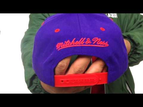 Raptors '2T XL-LOGO SNAPBACK' Purple-Red Adjustable Hat by Mitchell & Ness