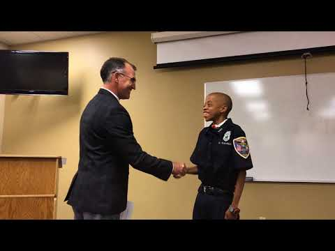 Valparaiso Police Department Recognizes Dejon Walker as Honorary Police Officer