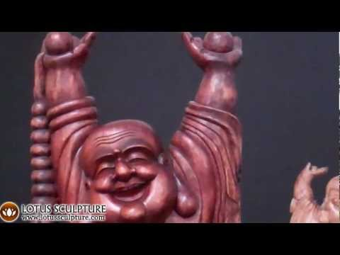 SOLD Large Fat & Happy Buddha Statue 72