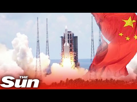 China launches rocket to Mars starting race with US to land humans on the red planet