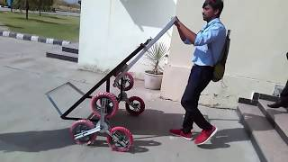 Final year project. Mechanical engineering, good project, stair climbing trolley.