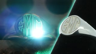Deep Laser Engraving | Sterling Silver Monogram Signet Ring