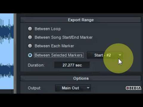 PRESONUS STUDIO ONE How to export an audio mixdown