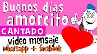 Buenos Dias Mi Amorcito CANTADO | Videos Para Whatsapp Facebook - Frases De Amor - Huevo Mensaje