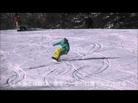 スノーボード カービングターン プレス ロング