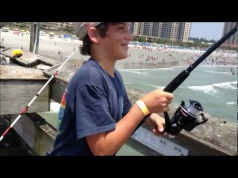 Pier myrtle beach videos for Shark fishing myrtle beach