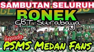 Video Begini Saat Ribuan Bonek dan PSMS Medan Fans saling Sapa Chant di GBT Surabaya MP3, 3GP, MP4, WEBM, AVI, FLV Juli 2018