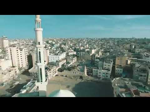 مشاهد جوية لسريان قرار حظر التجوال بمحافظة خان يونس صباح اليوم