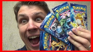 Pokemon Cards XY Evolutions 4 Booster Pack Opening with THAT SHINY SHINE by ThePokeCapital